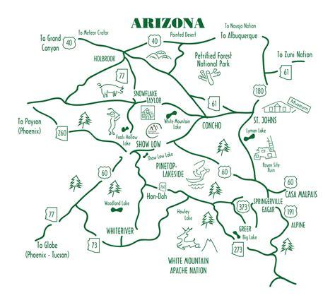 white mountains arizona map white mountains arizona map