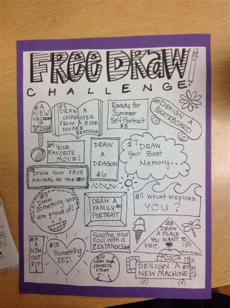 doodle drawings what do they 19 best free draw challenge images on