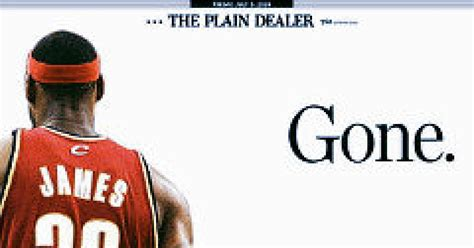 the cleveland plain dealer sports section cleveland calls foul on lebron for decision ny daily news