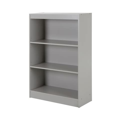 south shore axess 3 shelf bookcase soft gray