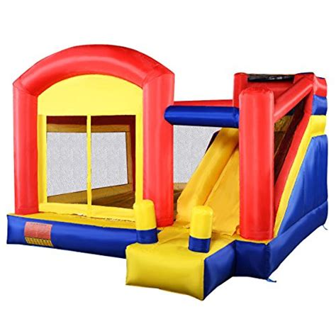 amazon bounce house costzon new super slide inflatable bounce house castle moonwalk jumper bouncer without