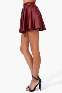 nwt burgundy flowy faux vegan leather skater skirt