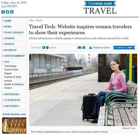 saturday star travel section the toronto star global adventuress inspires women