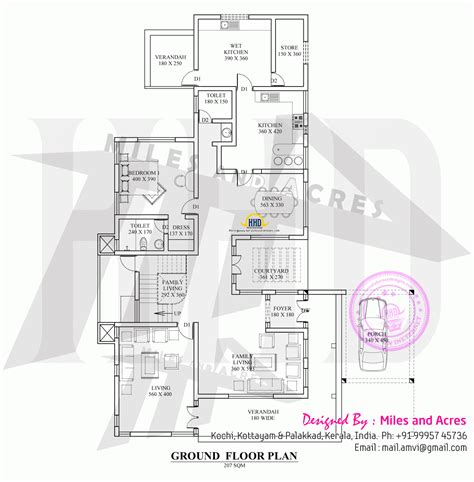 3d ground floor plan 3d view with plan kerala home design and floor plans