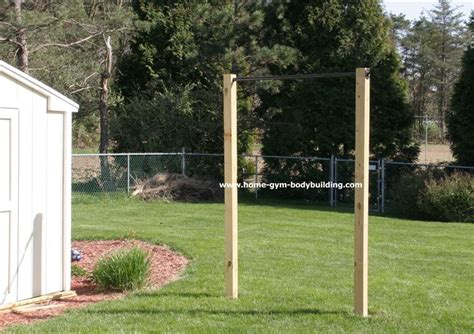 backyard gym equipment homemade outdoor pullup bar for about 69 you can workout