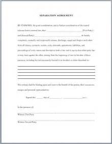Seperation Agreement Template by Separation Agreement Template Business Templates