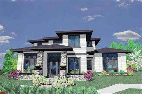 prairie style house plans home design msap 2412
