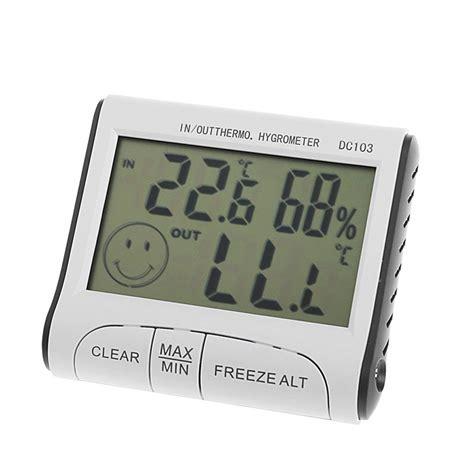 digital room thermometer digital room thermometer hygrometer max min temperature humidity indoor outdoor ebay