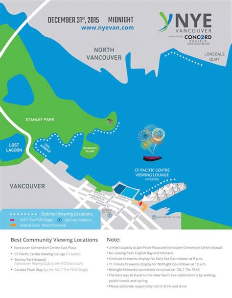 new year parade vancouver 2015 map guide to the nye vancouver celebration vancouver s