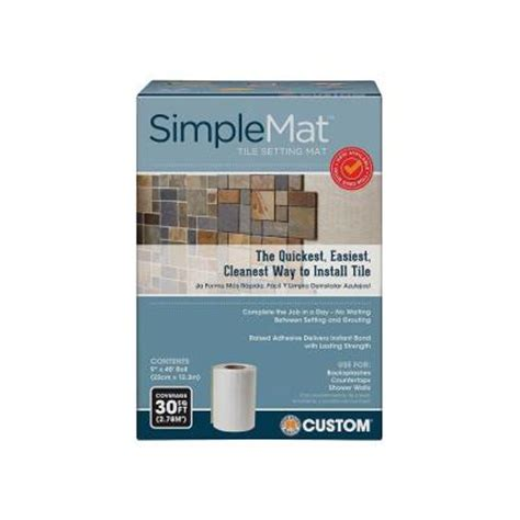 custom building products simplemat 30 sq ft roll of tile