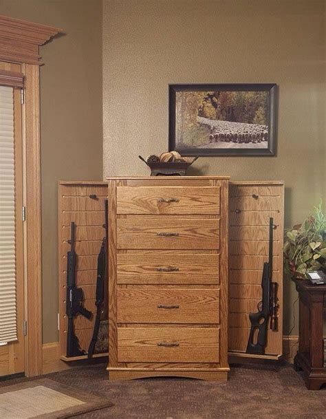 Dresser Gun Safe by Gun Compartment House Ideas
