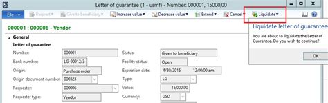 Guarantee Letter For Purchase Order letter of guarantee against purchase order in ax 2012 dynamicsteaching