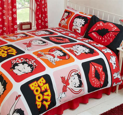 betty boop picture perfect hearts lips polka dot dog red bedding  curtains ebay