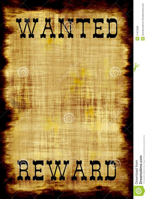 staff wanted template blank wanted outlaw poster stock illustration image of