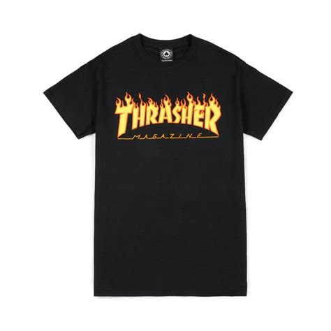 T Shirt Thrasher New thrasher logo t shirt black 39 00 t shirts