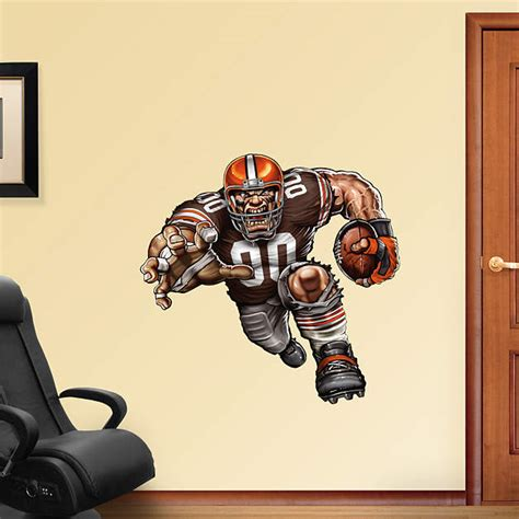 Cleveland Browns Decor by Barreling Brown Fathead Wall Decal