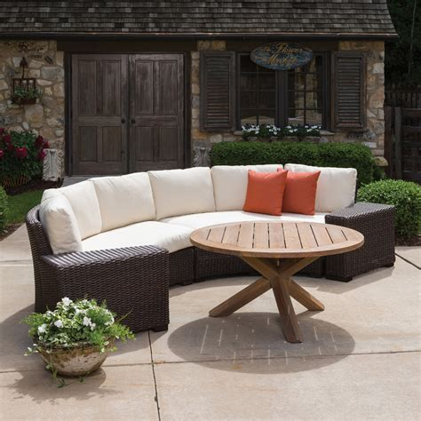 lloyd flanders patio furniture lloyd flanders mesa curved wicker sofa sectional 298056