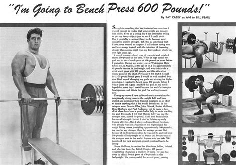 pat o donnell bench press pat casey im going to bench press 600 pounds strength