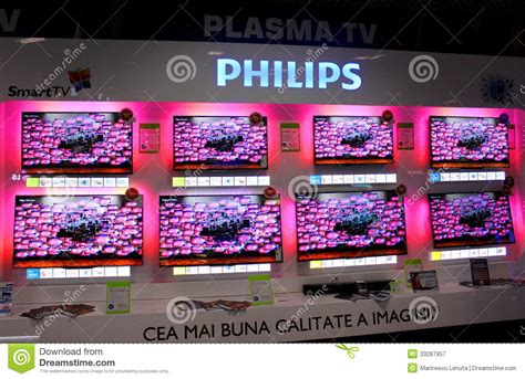 electronic section philips plasma editorial photography image 33287957