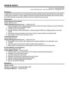 missouri credentialing specialist resume exles find the best credentialing specialist best quality assurance resume exle livecareer
