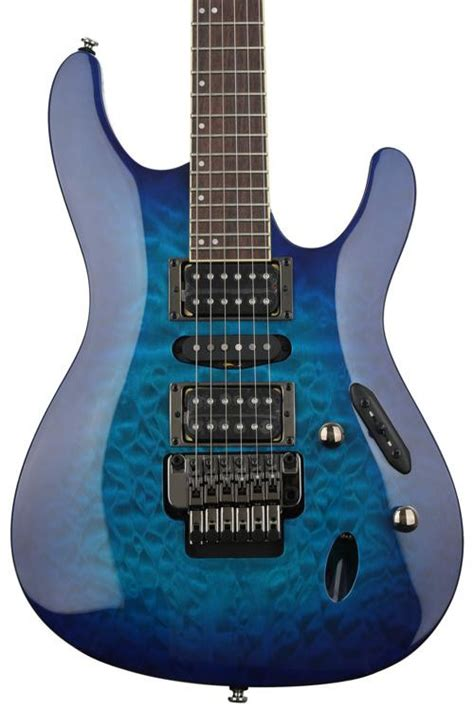 Ibanez S Series Blue ibanez s series s670qm sapphire blue sweetwater