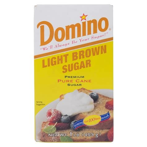 Light Or Brown Sugar domino light brown sugar 1 lb box 24