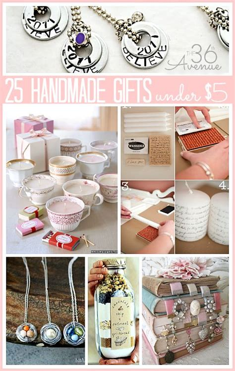 25 handmade gifts under 5 dollars things to make