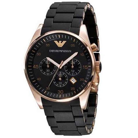 s watches emporio armani chronograph black