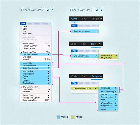 design menu bar in dreamweaver redesigned menus