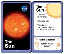 solar system trading cards template teacherlink utah state