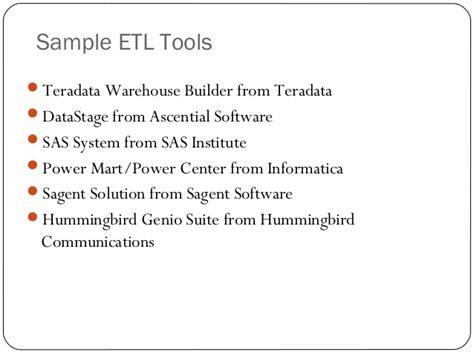 Teradata Etl Tools by Etl Testing Presentation