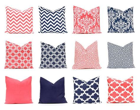 Coral And Navy Pillows by Coral Navy Throw Pillow Covers Coral Nursery By