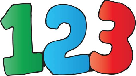Math Numbers Clipart