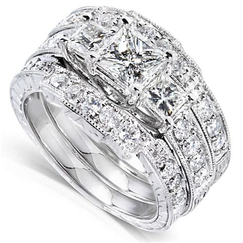 wedding ring sets for him and white gold