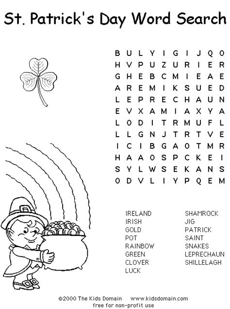 printable irish word games word search one is spanish too plus a word scramble