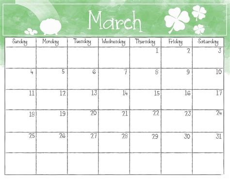 printable calendar for march 2018 printable march 2018 calendar max calendars