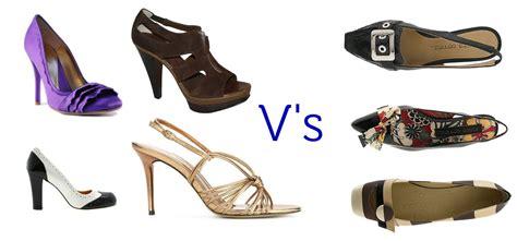 flat shoes vs high heels beautiful shoes