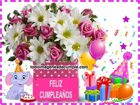 imagenes de flores de feliz cumpleaños im 225 genes de feliz cumplea 241 os con flores regalitos y dibujitos