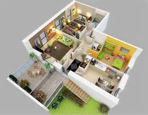 Three Bedroom House 3d small house plans three bedroom best house design ideas