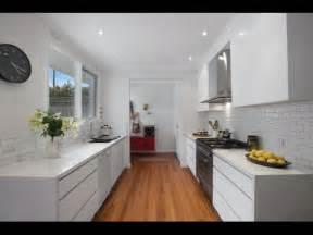 Modern white galley kitchen kitchen love pinterest