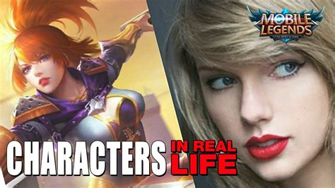mobile legend characters mobile legends characters in real actors