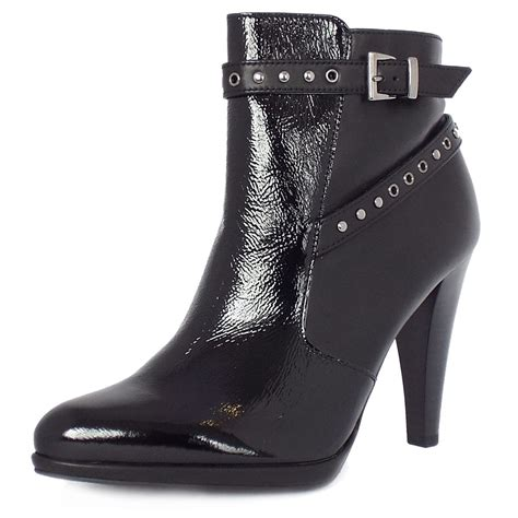 black leather ankle boots high heel kaier peli high heel ankel boots in black leather