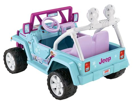 power wheels jeep wrangler amazon com power wheels disney frozen jeep wrangler toys