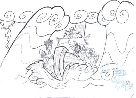 free coloring page jesus calms the storm jesus calms the storm by kenny boy on deviantart bible