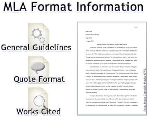 mla format essay high school mla format concept map