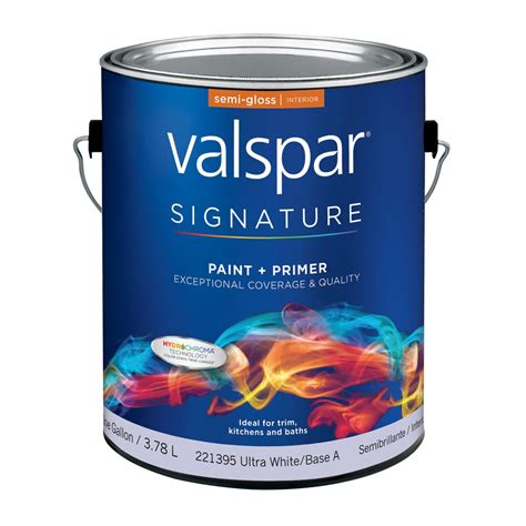 shop valspar signature white semi gloss interior paint and primer in one actual net
