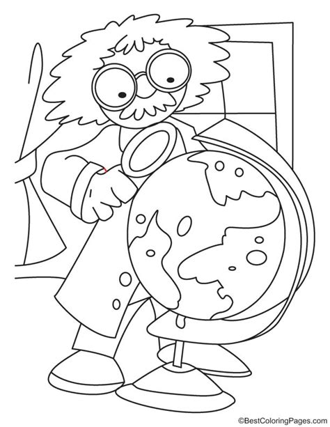 coloring book for scientists scientist coloring sheet coloring pages