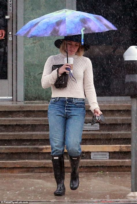 Is It Really Still Raining Wellies For Weather by Hilary Duff Shares A Snap Of Wellington Boots As She