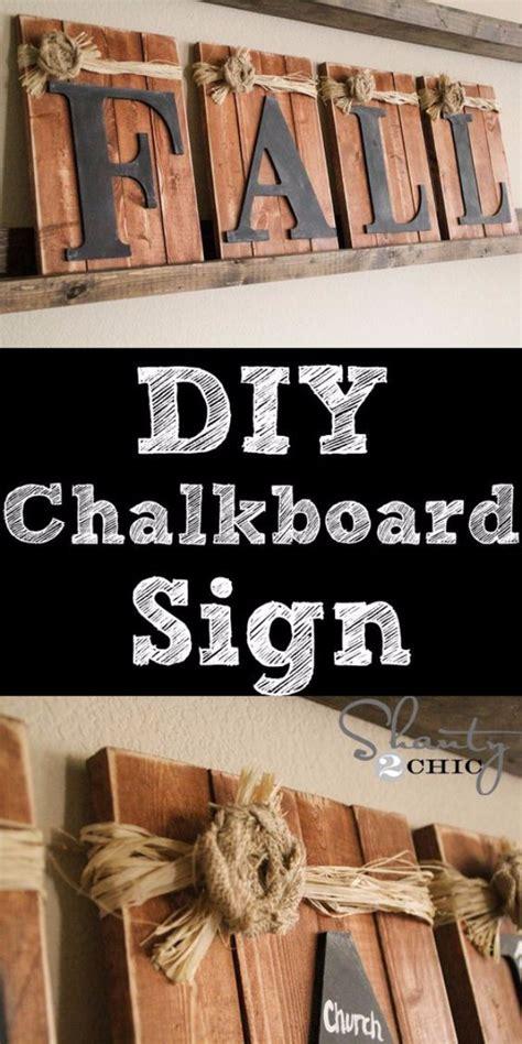 diy chalkboard sign tutorial 17 wonderful diy home decor ideas for this fall