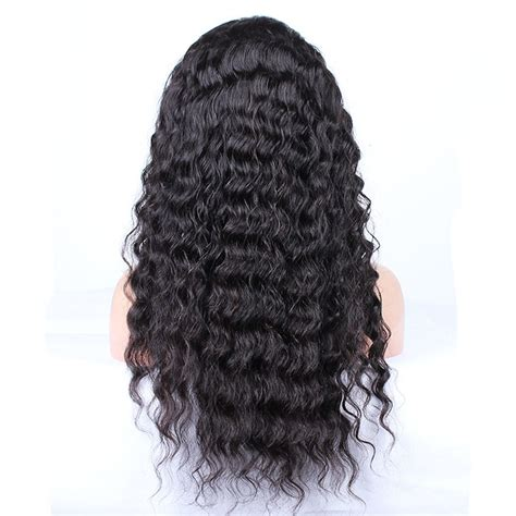 loose curl perm for black men nature black loose wave full lace human hair wigs for